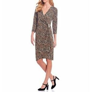 Calvin Klein Faux Wrap Printed Dress